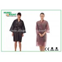 Best Breathable Disposable Kimono Robe Nonwoven Sauna Gown / Bathrobe Beauty Center Using wholesale
