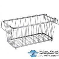 China Chrome plated wire mesh storage basket on sale