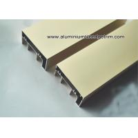China Anodised Gold Aluminum Extrusion Sliding Door Track / Channel on sale