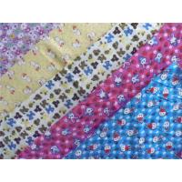 China Classic Style Floral Flannel Fabric Waterproof Cotton Flannel Laminated Cloth Diaper on sale