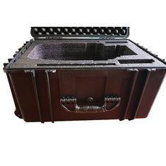 China Waterproof Lockable Plastic Tool Box , Black Plastic Lockable Wheeled Tool Box on sale