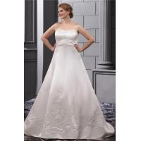 Best Strapless Sweetheart Plus Size Designer Wedding Gowns Embroidered Sweep Train wholesale