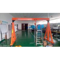 China Workshop 1T 5T Adjustable Height Gantry Crane With Wheel High Efficiency on sale