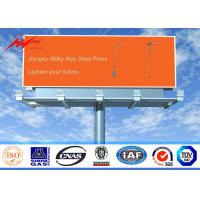 China Single Sided Outdoor Steel LED Advertising Board Display 12M-30M Height on sale
