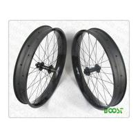 China boostbicycle bike wheels direct discount sale 26er Carbon Fat Bike wheel 90mm Width 25mm Depth Hookless Tubeless on sale
