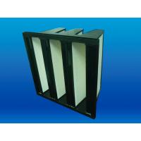 Cheap Low Initial Resistance Multi V Bank Rigid Filter, Glass Fibre Paper HEPA Filter for sale