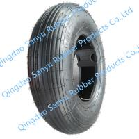 China 4.80/4.00-8 Wheelbarrow tire tubeless type thin rubber covered on sale