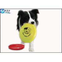 Best OEM Pets Products Plastic Dog Frisbee , Dedicated Pet Toys Big Dogs Bite Resistant Flying Disc wholesale