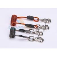 China Double Colors Coil Tool Lanyard 5.0 * 50MM Safety With Zinc Alloy Swivel Snap Hooks on sale