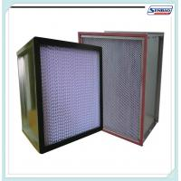 China Deep Pleated High Temp Hepa Filters Stainless Steel / Aluminum Frame on sale