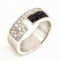 China Ring, Made of 925 Sterling Silver/CZ Stones /Rhodium Plating/Nickel, OEM and ODM Orders Welcomed on sale