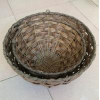 Best Hot sale China manufactured Round shape brown color hanging flower planter, hanging baskets wholesale