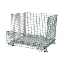 China Zinc Plated Metal Wire Mesh Storage Baskets Industrial Stackable 800*600*640mm on sale