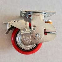 6 Inch PU Shock Absorbing Casters Load Protection Reduces Rolling Noise