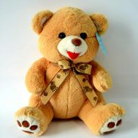 Best Cute Plush Toys for baby, Lovely Brown Bear Plush with Paw bow-tie. wholesale