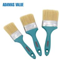 Cheap Flat Wide Natural Bristle Paint Brush 57-64mm Length Out Stainless Iron / Steel Ferrule for sale