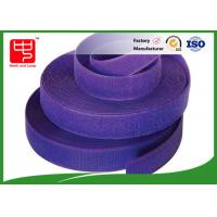 Buy cheap Purple strong velcro adhesive tape hook and loop tape roll for garments product