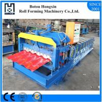 Best Roofing Glazed Tile Roll Forming Machine Full Automatic PLC Control Pump wholesale