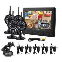 Best High Definition Quad Wireless DVR Security System 7 Inch TFT LCD 2.4GHZ wholesale