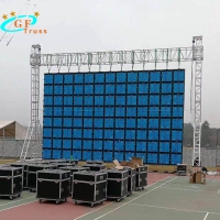 China Goal Post Aluminum Video Wall Truss Structure For Hanging Screen on sale