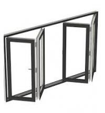 Buy cheap tempered glass folding accordion window manufacturer guangzhou bifold window from wholesalers
