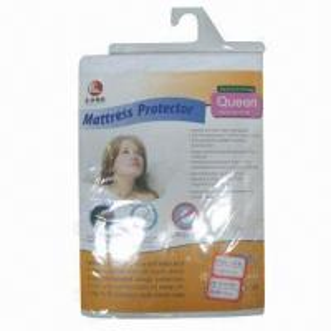 China Waterproof mattress pads, 100% cotton cover on sale