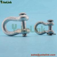 Best Factory price Zinc plated 5/8'' Rigging anchor shackle for towers, yokes and double arming plates. wholesale