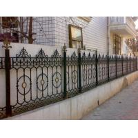 China Yard Decoration White Cast Iron Fence Grills / Custom Wrought Iron Fence on sale