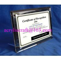 Best Acrylic Table Top Menu / Photo / Picture Holder 4 X 6 With Set Screw wholesale