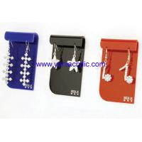Best Full - Color Laser Engraving Earing Acrylic Jewelry Display With SGS Standards wholesale