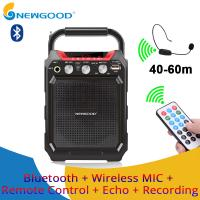 Best Remote Control Echo Recorder Amplifier Sound Speaker FM Radio Professional Audio Voice Portable Bluetooth Speaker wholesale