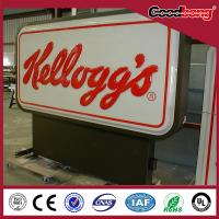 Best New Style Custom outdoor led advertising display, acrylic vacuum forming rotating display light sign board wholesale