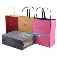 Best Printed Luxury Eco Retail Packaging Twisted Paper Handle Shopping Bag With Logo wholesale