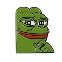 Best Smug Frog Pepe Custom Lapel Pin wholesale