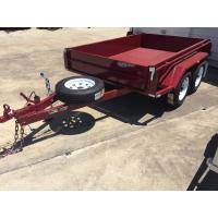 China Heavy Duty Industrial 10x5 Tandem Box Trailer 2000KG Wtih Rolled C / Plate Floor on sale
