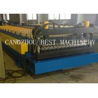 China Corrugated Roofing Sheet Roll Forming Machine 6kw Power 1200mm Feeding Width on sale