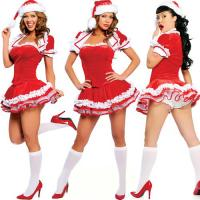 Best 4 PIECE SANTA MAID CHRISTMAS COSTUME Party Costume Santa Mini Christmas Lingerie Costume wholesale