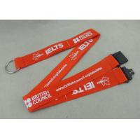 Best 900*20 mm Silk Screen Printing Nylon Lanyards With Safety Break Away Clip wholesale