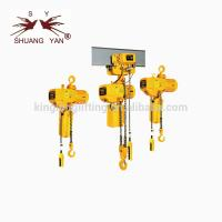 China Professional Electric Wire Rope Hoist  Steel With Trolley Over Girder on sale