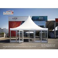 China 6X6M Gazebo Canopy Tent With Glass Wall And Flooring For VIP Room on sale