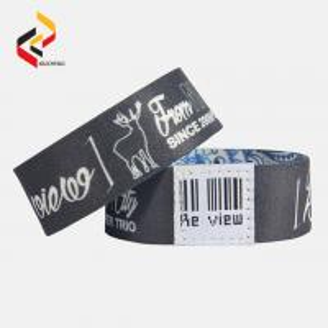 Best Customised Print Stretch Plicated Fabric Elastic RFID Wristband wholesale