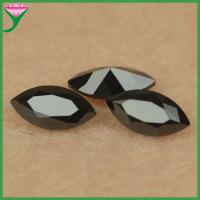 Best factory price machine cut marquise shape nano black spinel stone for wax set jewelry wholesale