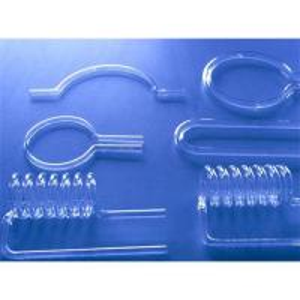 China Irregular shapes of quartz glass tube on sale