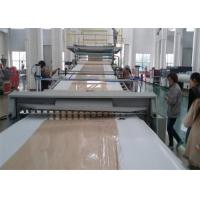 China Two Extruder PVC Plastic Sheet Extrusion Line Artificial Marble Stone Sheet Production on sale