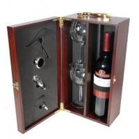 China High quality wooden wine boxes with tools wooden wine packing on sale