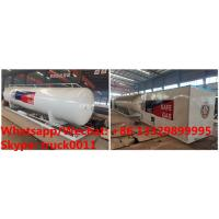 Best customized seperated 20m3 skid lpg gas station with electronic filling scales for sale, skid propane tanker with scales wholesale