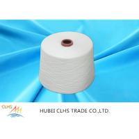 Best Optical White Ring Spun Polyester Yarn 50 / 2  50 / 3 100% Polyester stable fiber Material wholesale