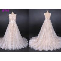 Best Sexy Backless Female Wedding Dress Sleeveless Sequins Tulle Bright Lines And Chi Shapes wholesale