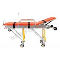 Best Aluminum Alloy Adjustable Wheeled Automatic Loading Stretcher With 65° Back Angle wholesale