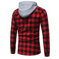 Buy cheap Latest design custom long sleeve 100%cotton flannel shirts casual men hooded from wholesalers